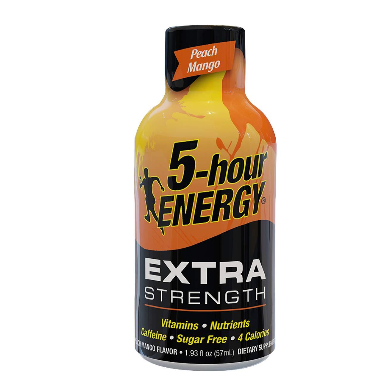 5-hour ENERGY® Shot, Extra Strength, Peach Mango, 1.93 oz.