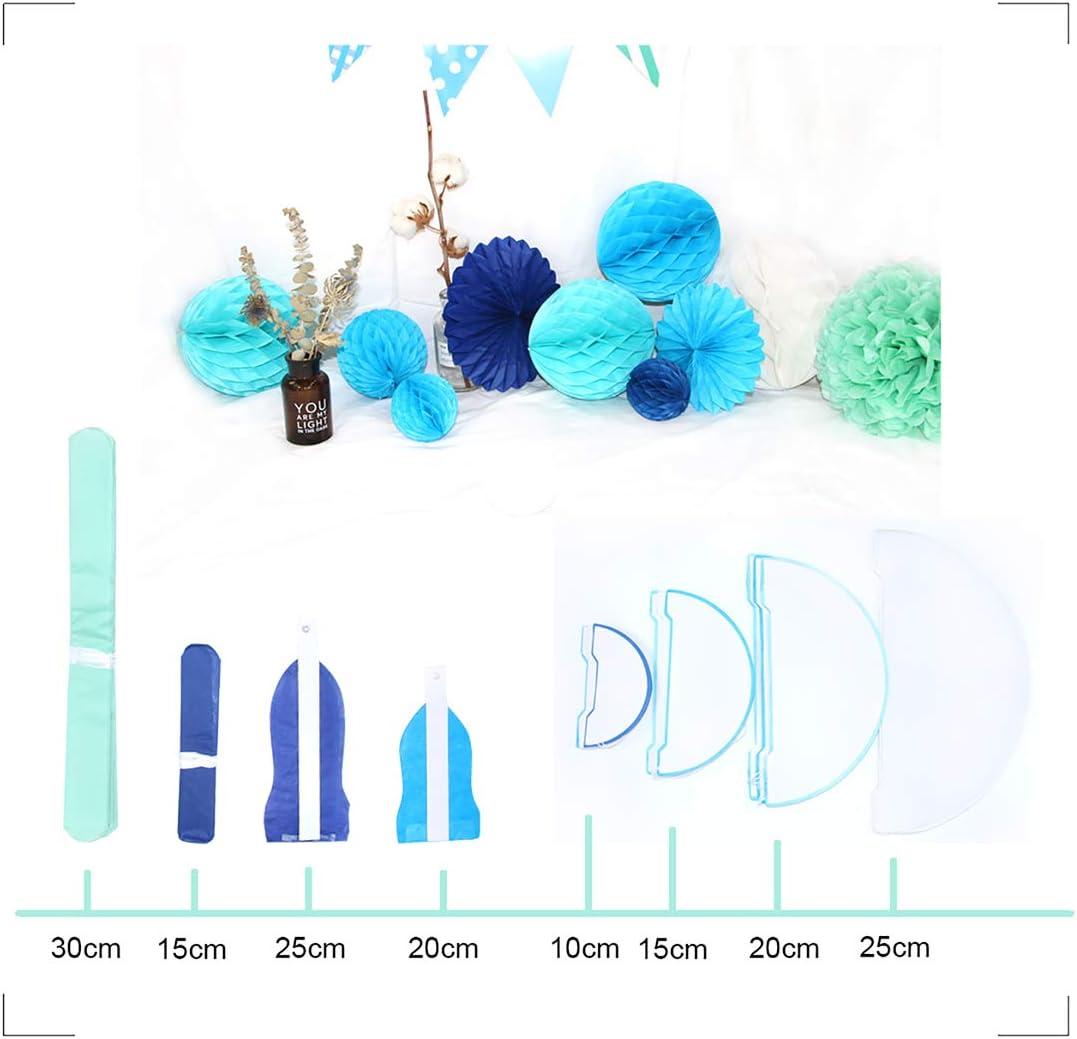 Blumenball als Dekoration f/ür Hochzeit//Gebutztag//Baby Shower//Weihnachten Pompons Papierblumen mit mit Quaste und Girlande Himeland 31xPompom Set