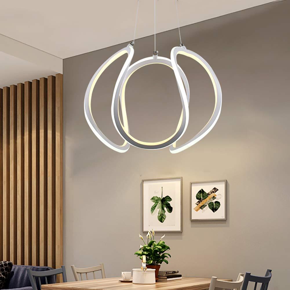 FZC-EEモダンシャンデリアアイアンアートペンダントランプシーリングライトシンプルな北欧装飾照明リビングルーム研究寝室ロフトカフェ、白, white   B07TT1HG3F