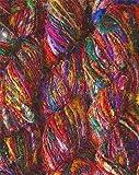 100 grams RECYCLED SARI Pure Silk Art Yarn for US 10 guage needles