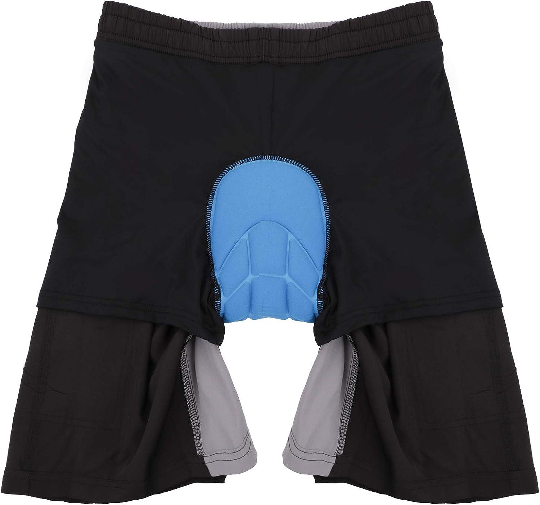 Priessei Pantalones cortos para ciclismo de monta/ña para hombre ligeros acolchados