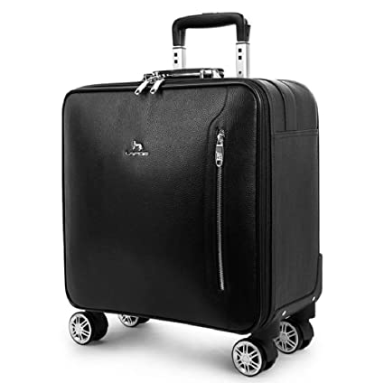 d580c6ec4 WSJ Leather Travel Business Trolley Case, Silent Caster, Retro Waterproof  Suitcase, Large Capacity