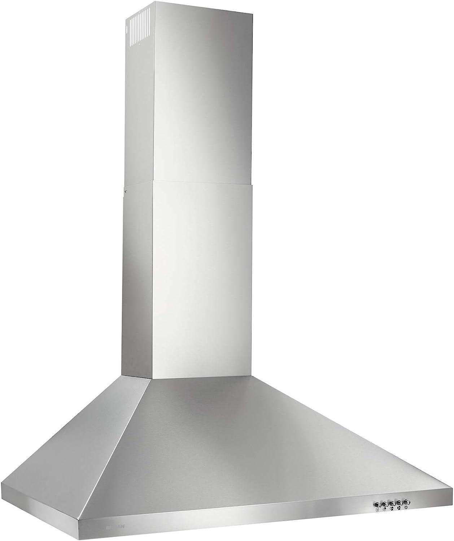Broan-NuTone BW5030SSL Stainless Steel LED Lights Chimney Range Hood, 30-Inch