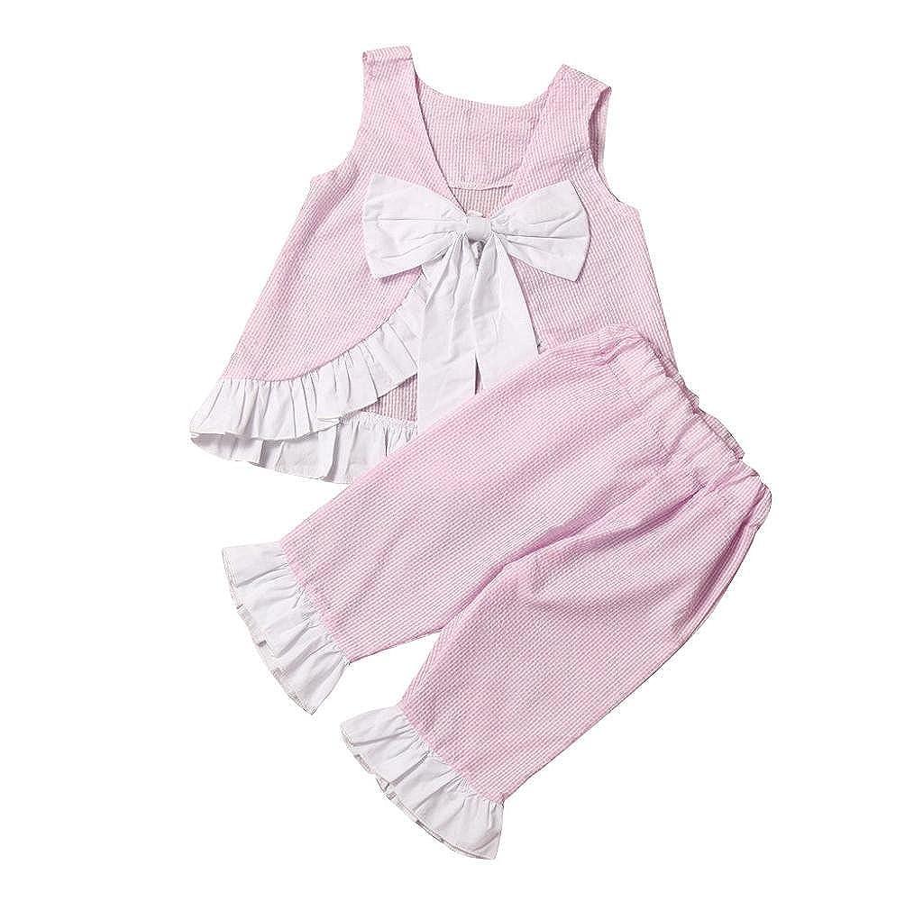 Malloom® Baby Girl Outfits Set, Summer 2PCS Kids Cute Bow Vest Tops + Shorts Pants