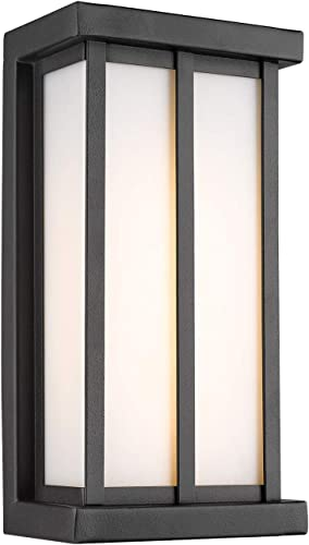 Emliviar LED Porch Lighting in Black Finish, 7W LED 450 Lumens, 3000K Warm White, 80017 BK