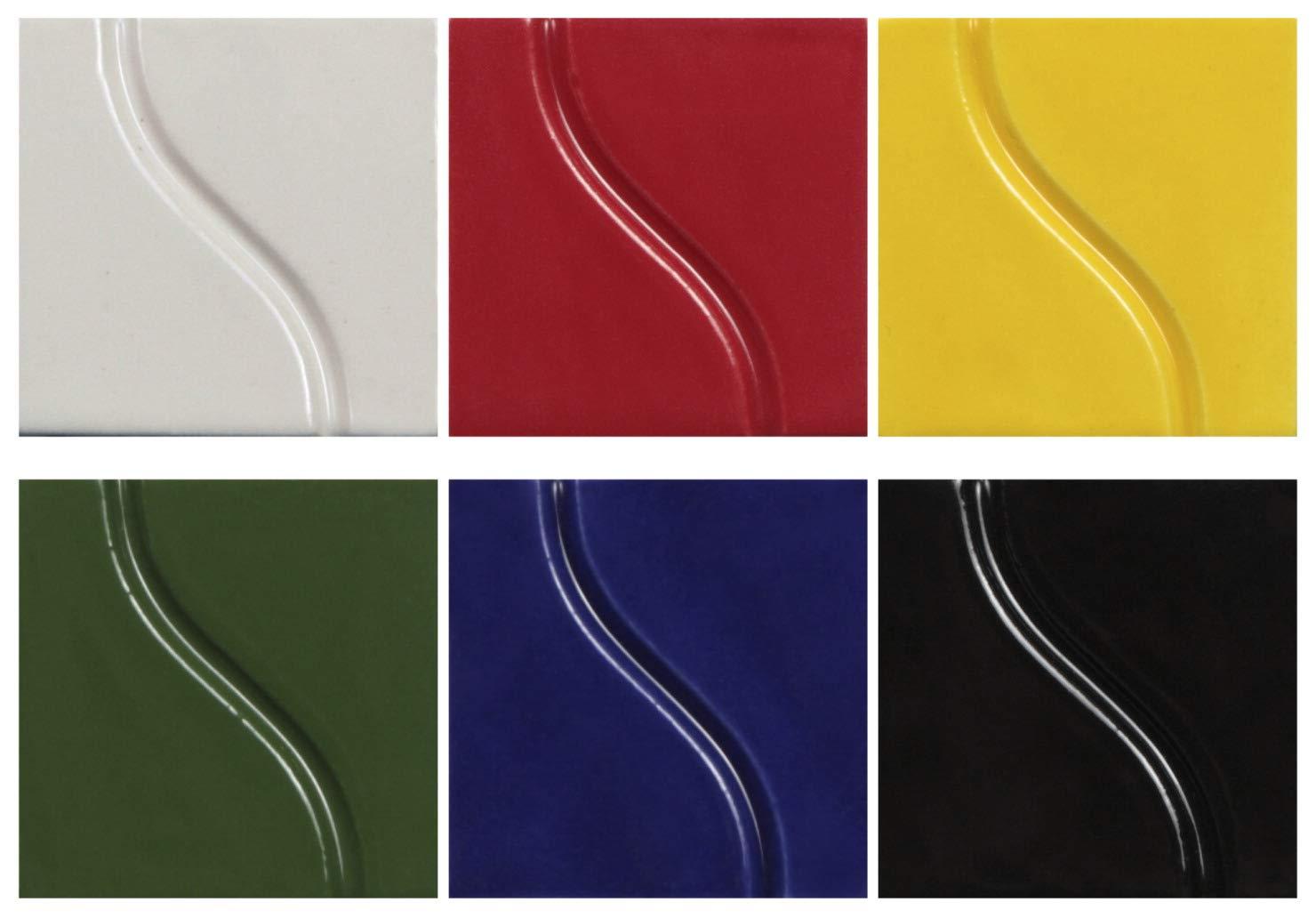 Sax True Flow Gloss Glaze Set, Assorted Colors, Set of 6 Pints by Sax