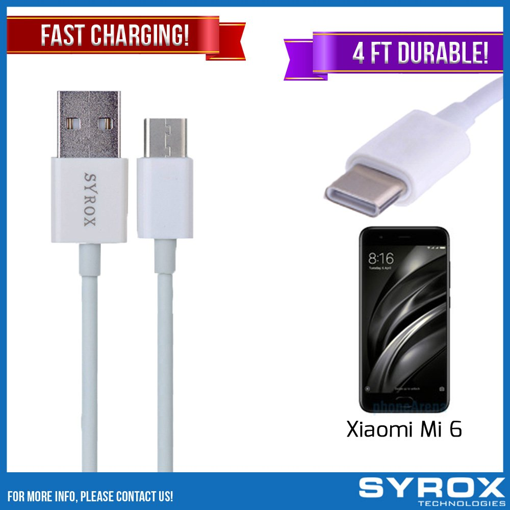 Syrox 20-Pack USB Type-C Cable, Reversible 4 ft Ultra Durable Fast Charging for Xiaomi Mi 6, Samsung Galaxy Note 8, S8 Plus, LG V30, V20, G6, G5, Google Pixel, 6P, Nintendo Switch and All