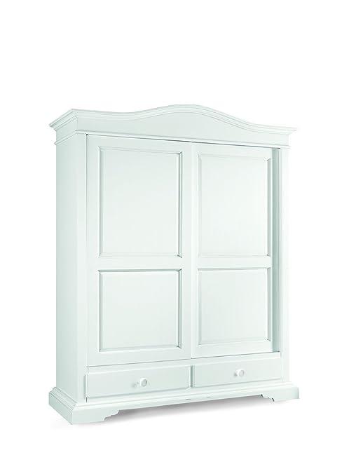 Lo Scrigno Arredamenti, Armadio Classico 2 Ante scorrevoli 2 cassetti  laccato bianco W1398/L