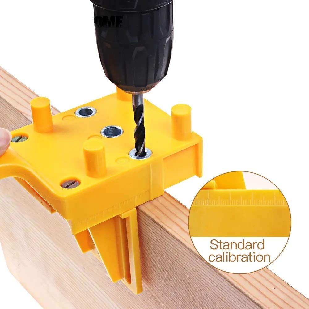 un known Woodworking Dowel Jig 6 8 10mm Drill Guide Metal Sleeve Handheld Wood Doweling Hole Drill Accessory Replace Parts By Yourself (Color : Yellow) Green