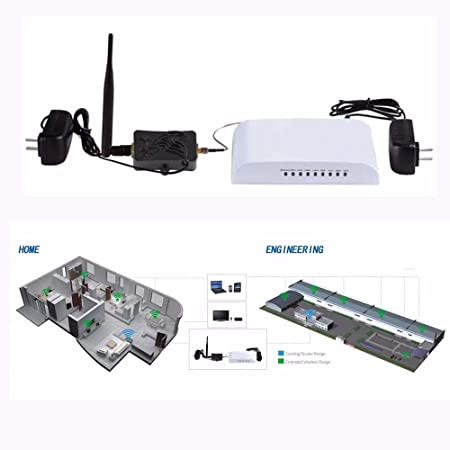 Amazon.com: Grandey 4W 4000mW 802.11b/g/n Wifi Wireless Amplifier Router 2.4Ghz WLAN ZigBee Bluetooth Signal Booster with Antenna TDD: Computers & ...