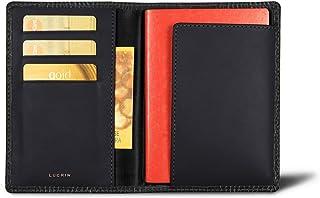 Lucrin - Porta passaporto e carte fedeltà - Pelle imitazione coccodrillo Lucrin - Pelletteria di lusso da personalizzare PM1137_CRO_BLR