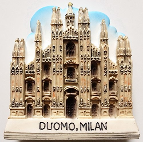 The duomo cathedral of Milan High Quality Resin 3D fridge Refrigerator Thai Magnet Hand Made Craft.