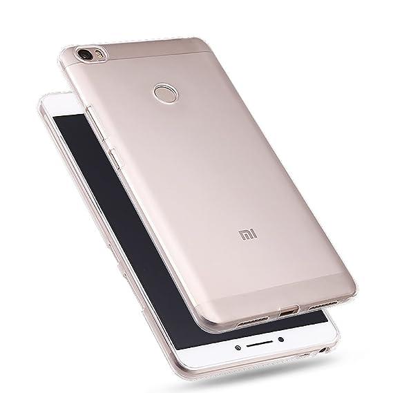 size 40 5cb0b f2b5a Xiaomi Mi Max Clear Case, iCoverCase Ultra Thin Clear Transparent Case  Crystal Soft TPU Gel Skin Back Cover for Xiaomi Mi Max (6.44inch) (Clear  Case)
