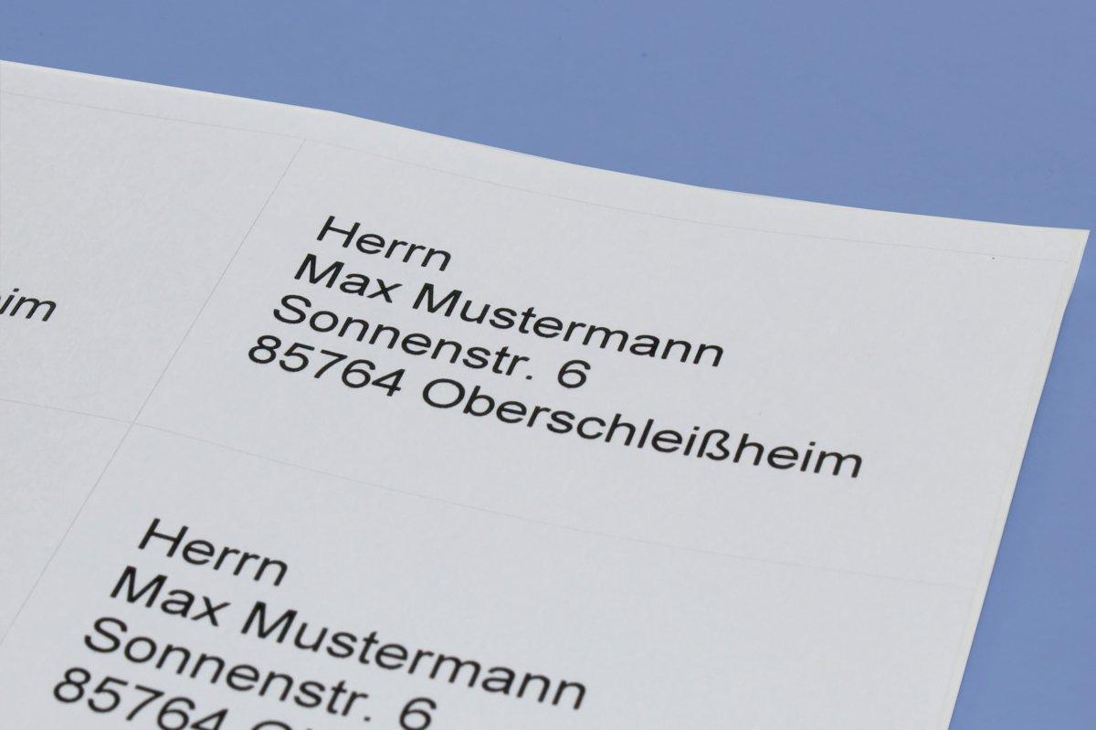 48,5/x 25,4/mm, 4000/etiquetas, papel mate, A4 100/etiquetas blancas Bits /& Paper et8043l universal de etiquetas