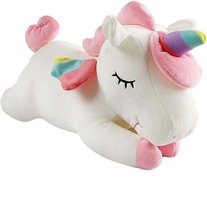 Jiada Super Soft Plush Unicorn Stuffed Toy Animal Pillow Cushion 30CM - White