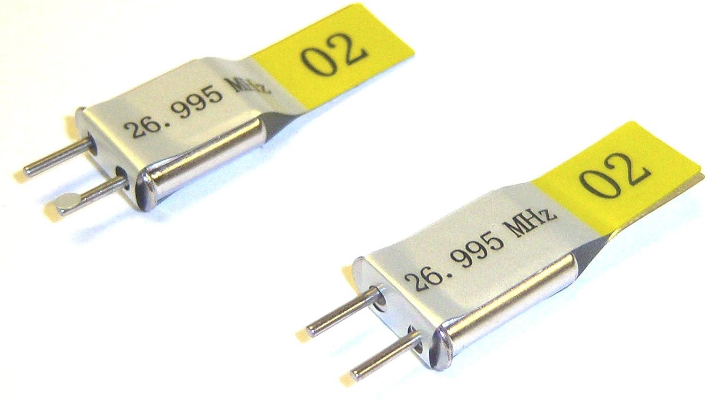 BSD 27mhz AM set cristallo trasmettitore e radio RC 26.995 TX & RX Giallo 2 canali BS901-080