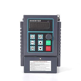 OUBAYLEW AC 220V 0.75KW Variador de Frecuencia de 5 a VFD 1 fase regulador de