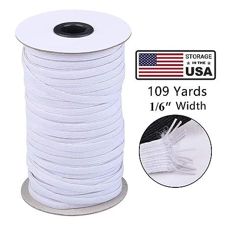 Elastic Rope//Elastic Cord Heavy Stretch High Elasticity Knit Elastic Band for Sewing Crafts DIY Bedspread Elastic Band Black, 10-Yards Length, 1//6 Width Cuff