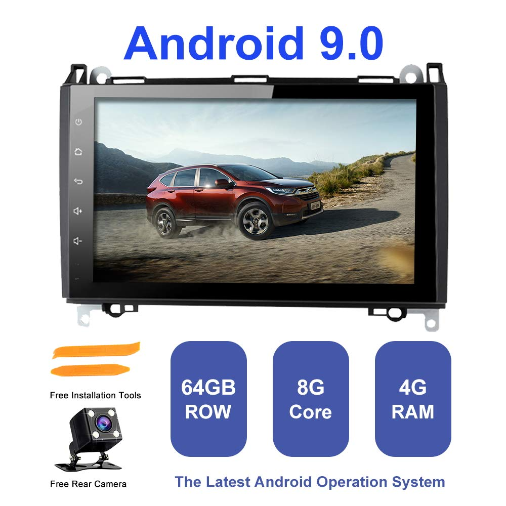TOOPAI for Mercedes-Benz W169 W245 B160//B170//B180//B200 W639 Vito Viano W906 Sprinter 2500//3000 VW Crafter 2006 Onwards Android 9.0 Octa Core 4G RAM 64G ROM Android Double Din Auto Stereo GPS