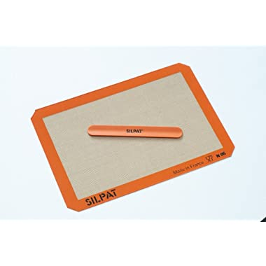 Silpat Silicone Baking Mat with Storage Band, Half Sheet Size, 11-5/8  x 16-1/2