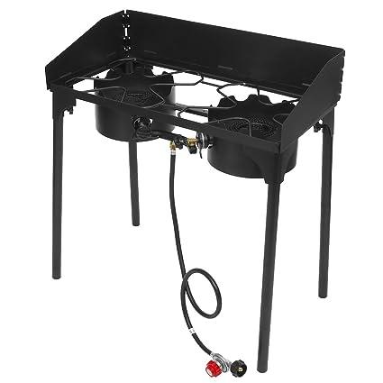 Amazon.com: Cosway 2-burner Estufa de Camping con ajustable ...