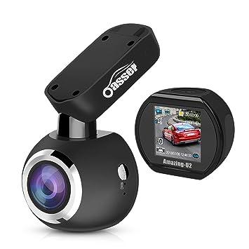 Oasser Cámara de Coche Dashcam FHD 1080P 170° con Visión Nocturna Sony IMX323 G-