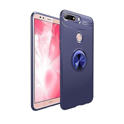 Funda Huawei Y7 2018, Kickstand Giratorio 360 Degree Anillo ...