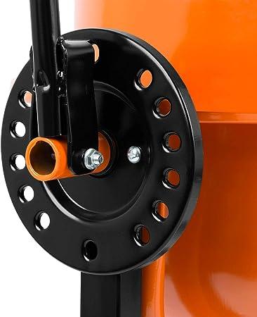 220W, 2 Ruedas, Reposapi/és, Motor robusto, Marco de acero estable EBERTH 65L Hormigonera