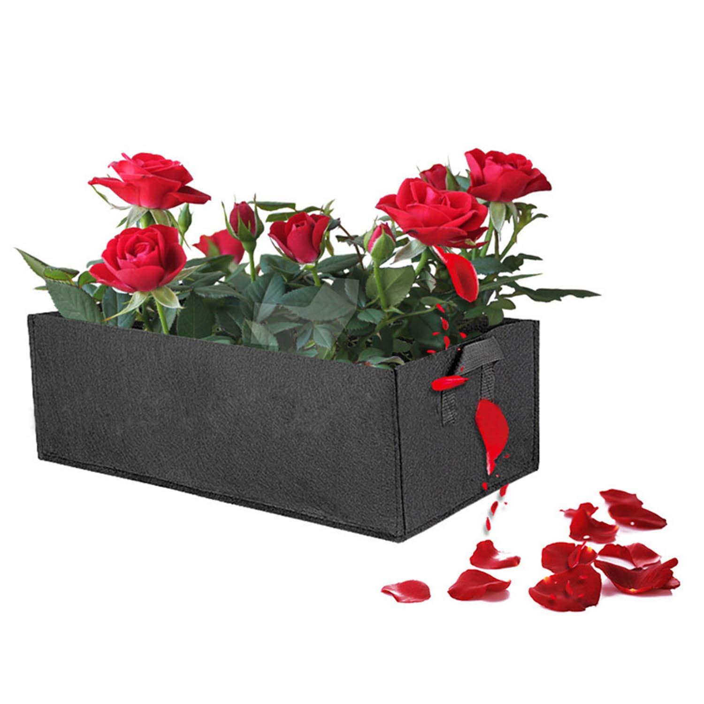 20cm Schwarz 30 Pflanztasche,Grow Bag,2 pcs Vliesstoff Pflanzsack Quadratische Pflanztasche mit Griff gef/ühlt f/ür Die Gartenpflanzung 60