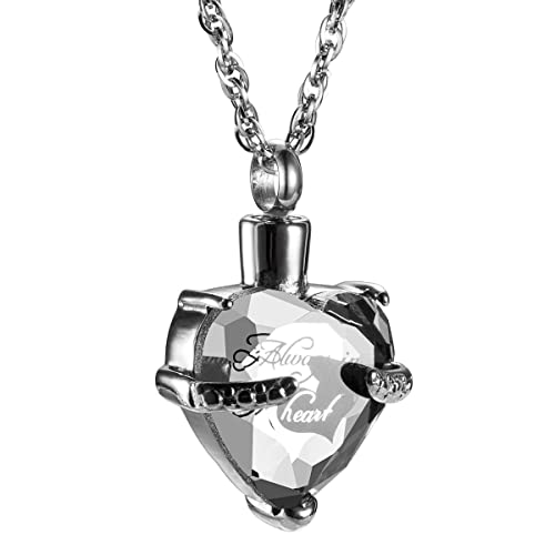 Amazon always in my heart with crystal glass cremation jewelry always in my heart with crystal glass cremation jewelry urn necklace memorial ashes holder keepsake aloadofball Image collections