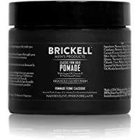 Brickell Men's Firm Hold Pomade for Men, Natural & Organic With Strong Hold & High Shine Finish, 2 Ounces, Scented