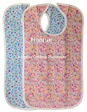 Quilted Washable Adult Bib with Snap Closure-Assorted Prints-2 per Package (Berry Bush Flannel)