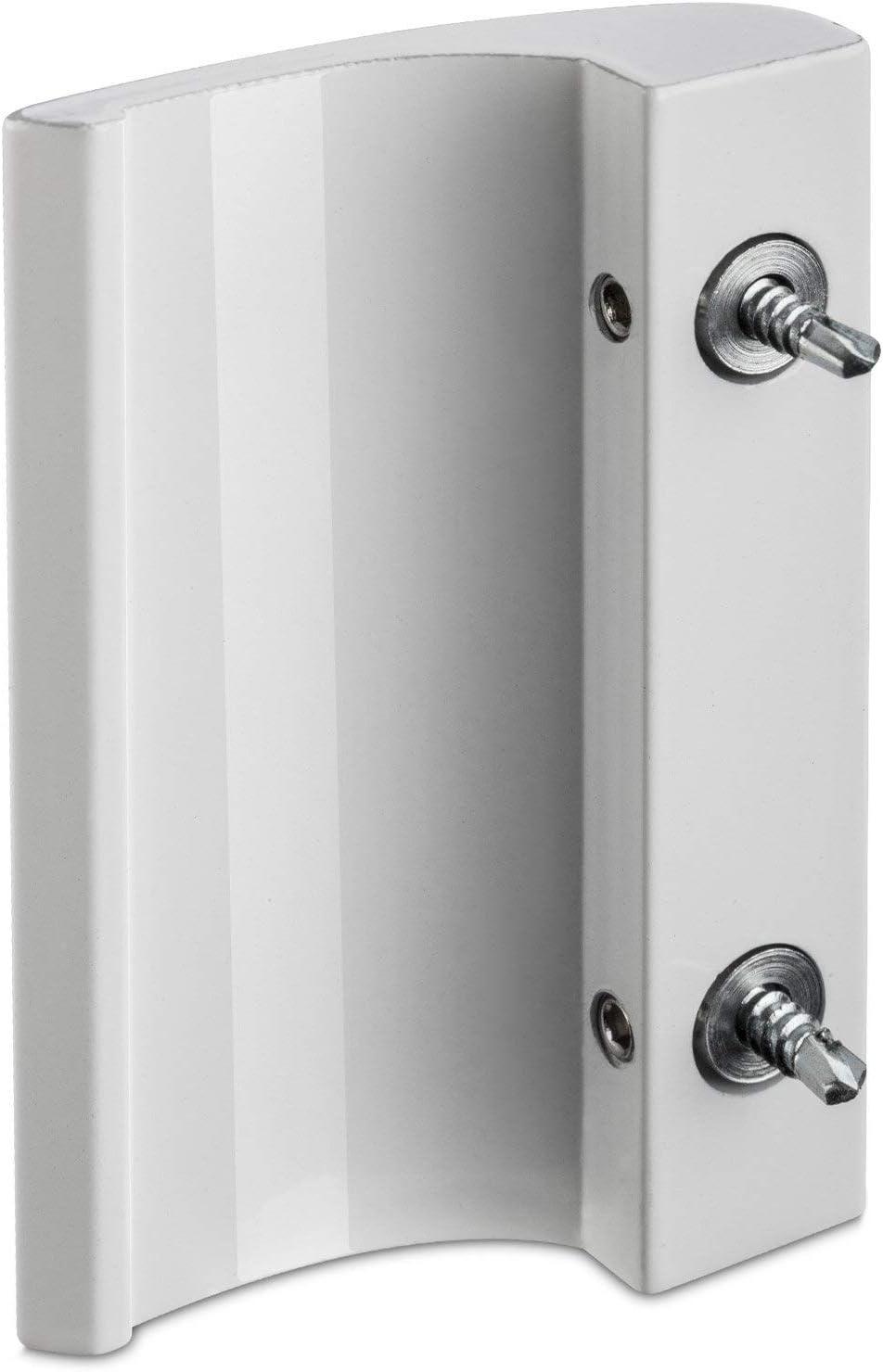 YUM maniglia in lega di alluminio grigia porta scorrevole per balcone porta scorrevole per fienile maniglia per porta da giardino maniglia laterale con viti di montaggio