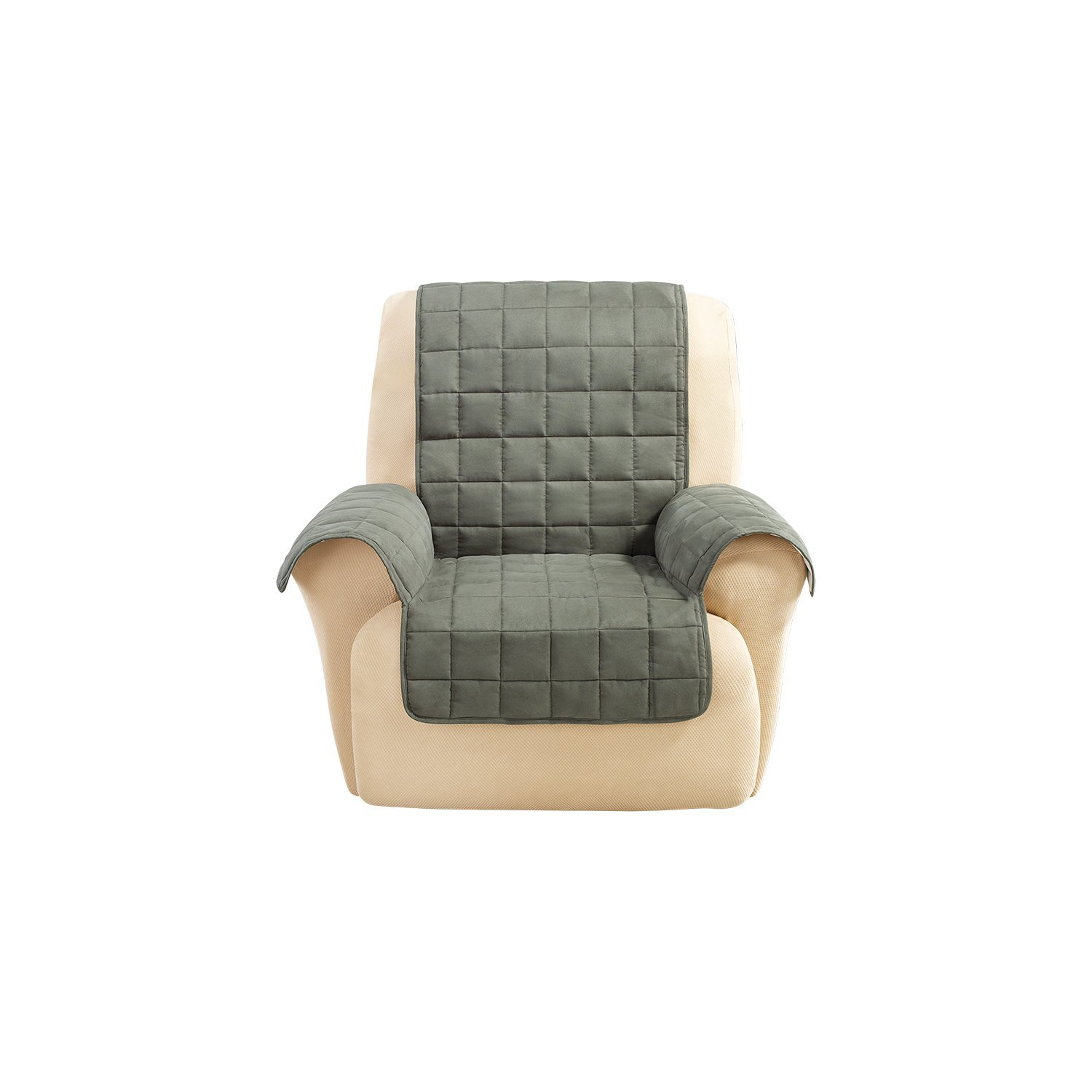 Sure Fit Ultimate Waterproof Quilted Throw - Recliner Slipcover - Loden (SF45319) by Surefit