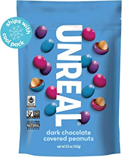 product image for UNREAL Dark Chocolate Peanut Gems | Non-GMO, Vegan Certified, Colors from Nature | 6 Bags