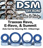 Traxxas 1 10 E-Revo - Revo 3.3 - Summit - E-Maxx Brushless Axle Carrier Wheel Hub Bearing Kit Set (8 Bearings)