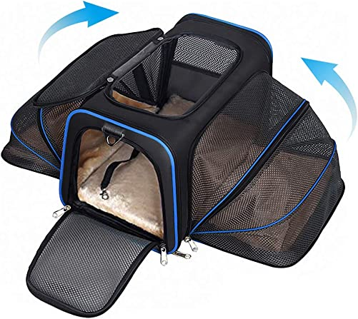 YOUTHINK Expandable Pet Carrier for Dogs and Cats, Soft Sided Most Airline Approved, Perfect Cat Carrier with Removable Fleece Mat