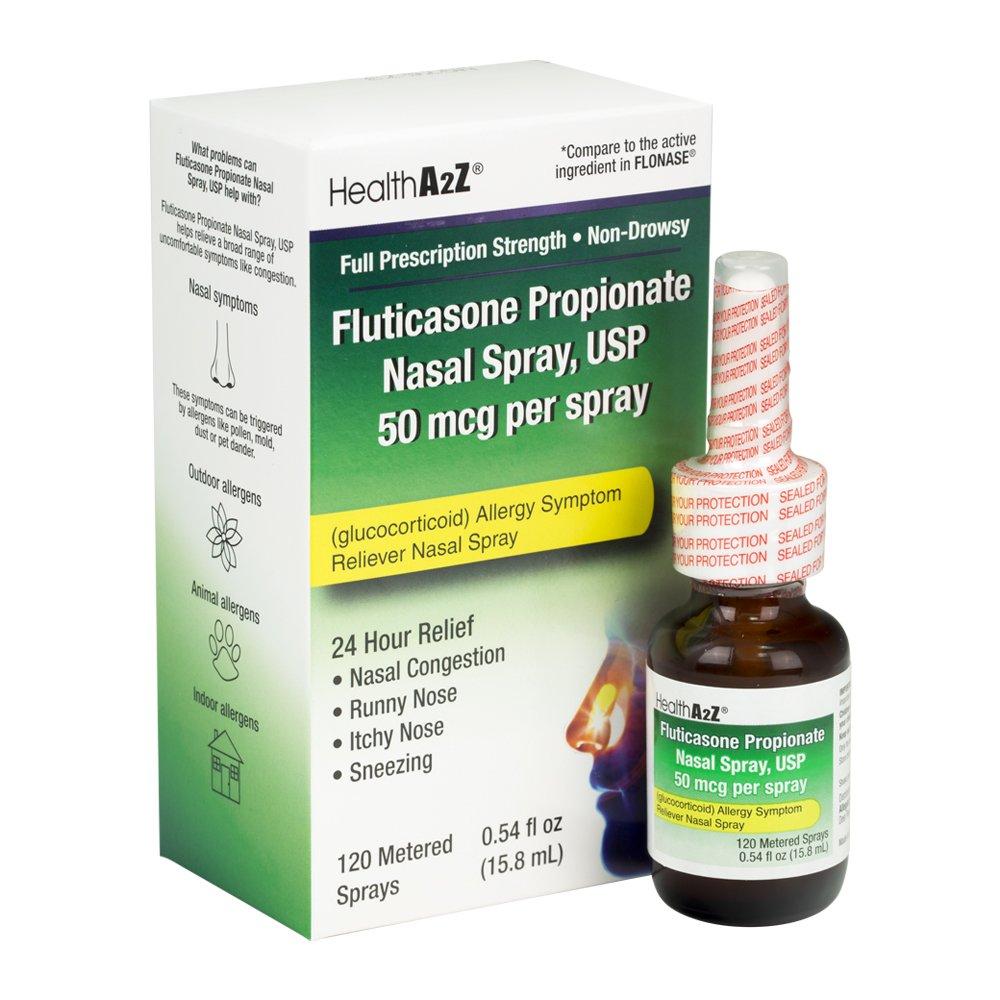 HealthA2Z Fluticasone Propionate Nasal Sprays, 24 Hour Allergy Relief,120 Spray by HealthA2Z