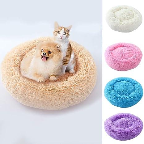 Cat Beds & Mats Round Shape Plush Pet Dog Cat Nest Winter Puppy Kitten Warm House Bed Supplies New Home & Garden
