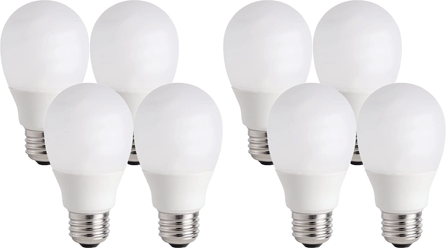 CFL Shatter Resistant Light Bulb with 9.1 Year Life 8 Bulbs 60W Equivalent Philips 14W 434357
