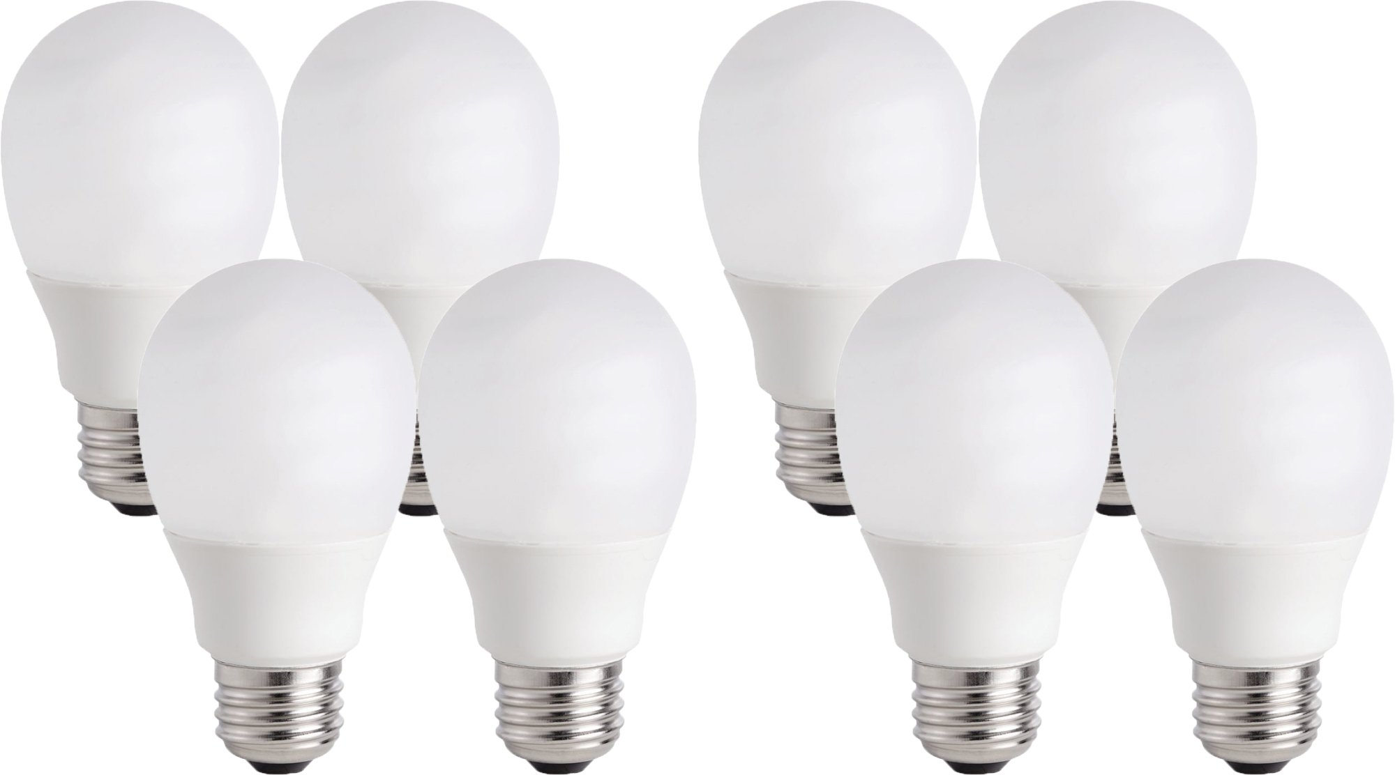 Philips 14W (60W Equivalent) CFL Shatter Resistant Light Bulb with 9.1 Year Life (8 Bulbs)