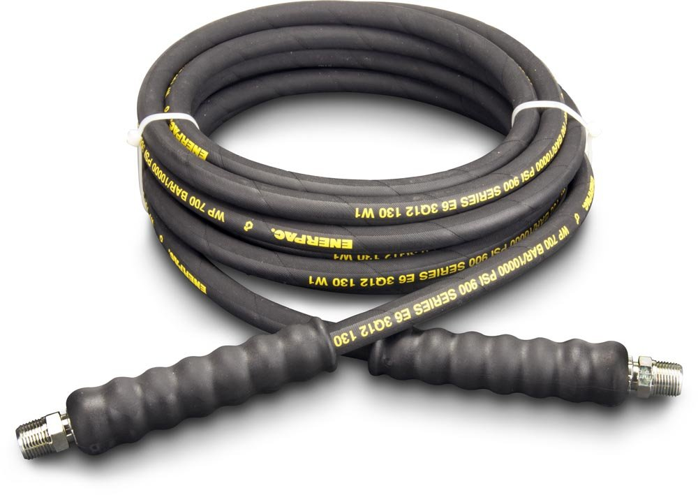 Enerpac H-9220 High Pressure Hydraulic Hose, 900 Series, 20' Length, 0.25'' Diameter, Black