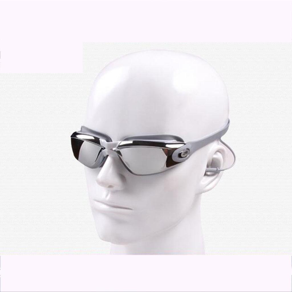ZHANG HD occhiali impermeabile antinebbia che nuotano gli occhiali grandi trasduttori pezzo di nuoto telaio placcatura, b