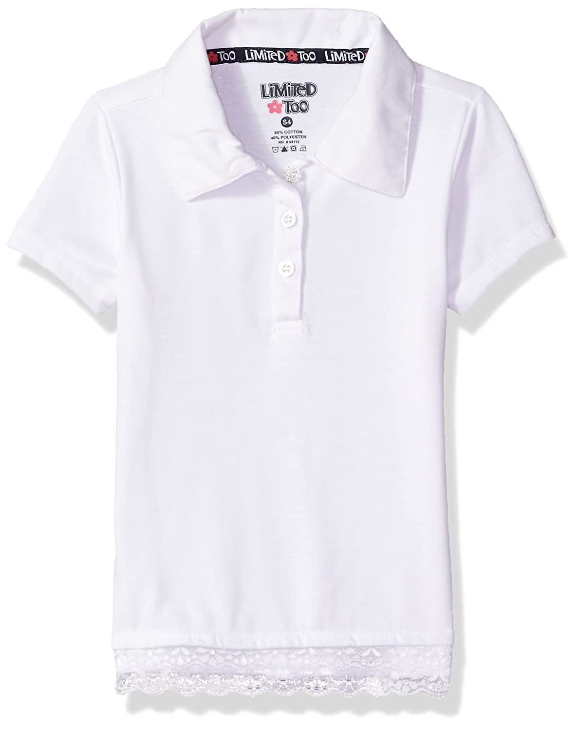 More Styles Available Classic White Limited Too Girls Polo Shirt 4