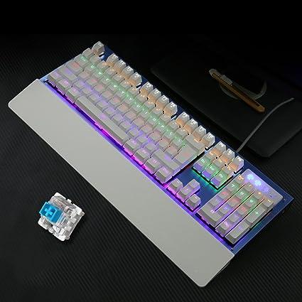 L & Y Juego teclado teclado mecánico de teclado oficina Internet Bar teclado Gaming Teclado Portátil Teclado retroiluminado ...