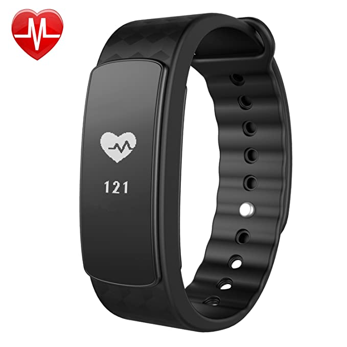 Fitness Tracker con frecuencia cardíaca, willful Fitness de pulsera resistente al agua podómetro pulsera reloj deportivo con pulsómetro Dormir Tracker ...