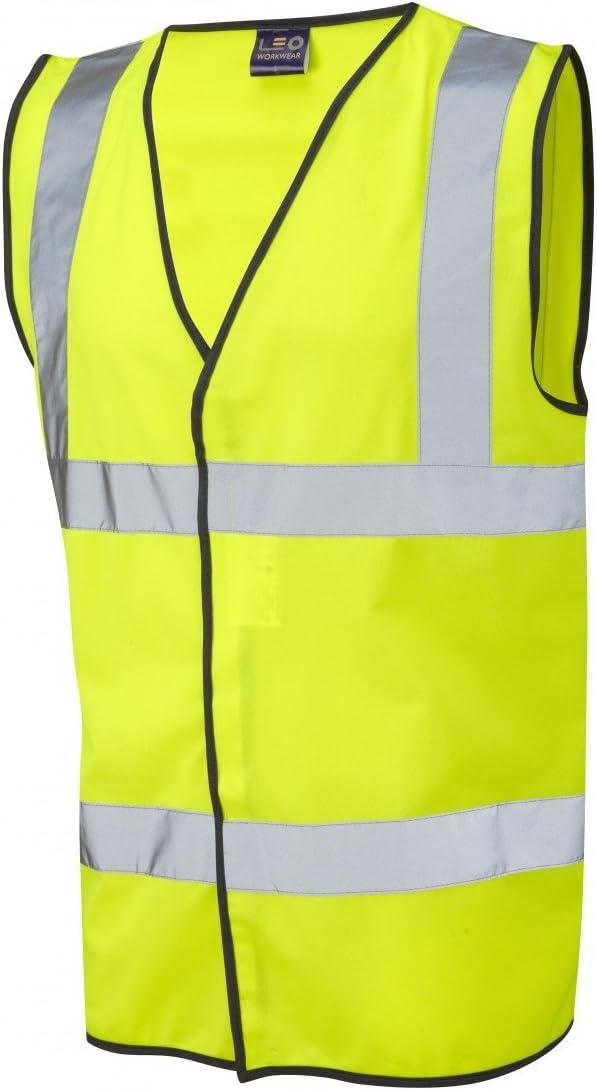 Small Leo Workwear Tarka 100/% Knitted Polyester Lightweight /& Durable High Visibility Waistcoat Hi-Vis Orange
