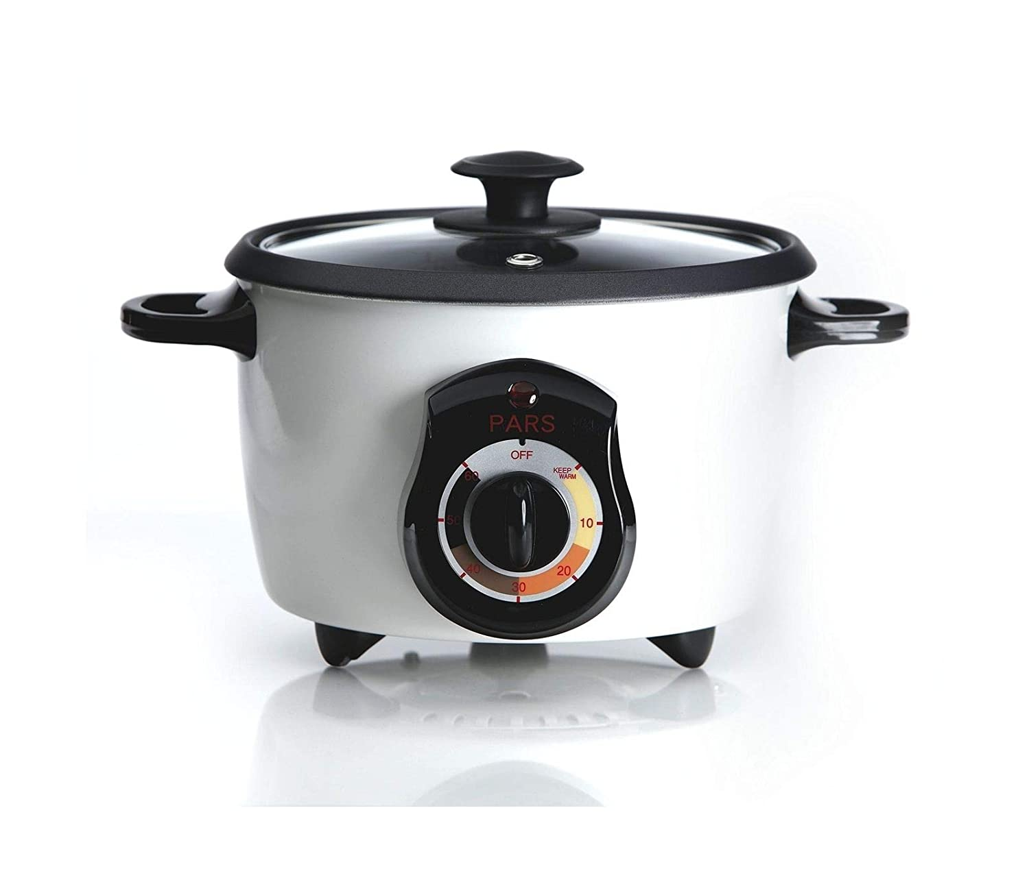 Mami-Team Rice Cooker Cup Persian Specialty Rice Cooker 5 Cup Automatic Shut Off Keep Warm Function Non-Stick Teflon 110v Home Use Size 10.3 x 7.7 x 10.2 inches