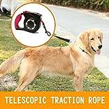 AAlight Pet Retractable Dog Leash LED Flexible Leash Puppy Cat Automatic Lead for Big Dog Reflective Dog Leash Lead Nylon with LED Light