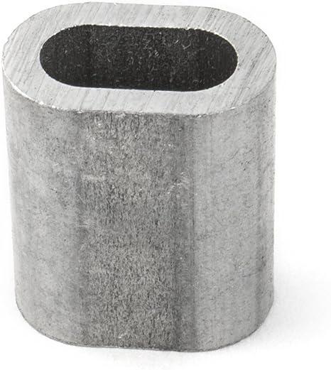 10 Stk Steelando Pressklemmen Drahtseilpressklemmen f/ür Forstseil Windenseil Stahlseil Seil Draht Stahl Aluminium, 1 mm